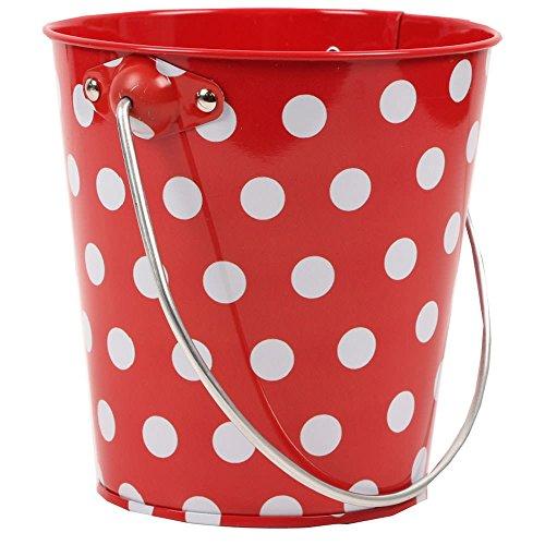 Burgundy Pail (JAM Paper® Metal Pail Bucket - Mini - 3 1/8