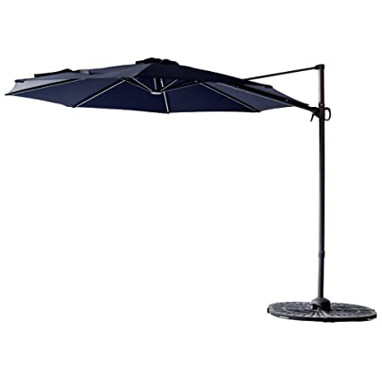 C Hopetree 10u0027 Cantilever Offset Parasol, Large Hanging Patio Umbrella,  Cross Base