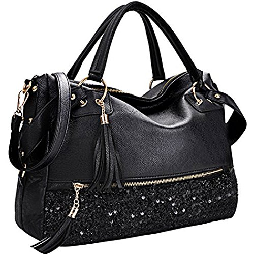 Fashion Sequins (Coofit Handbag Fashion Hobo Style Sequin PU Leather Shoulder Bag for Women)