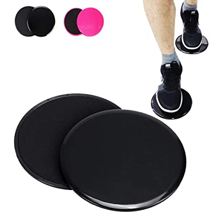 Set Of 2 Gliding Discs For Carpet Or Hardwood Floor Home Gym Fitness Equipment For Full Body Workout Crossfit Core Training For Fast Shipping Accessories Fitness Equipments