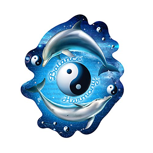 Signmission Dolphins Balance Harmony Yin And Yang Novelty Sign   Indoor Outdoor   Funny Home D Cor For Garages  Living Rooms  Bedroom  Offices Personalized Gift Wall Plaque Decoration