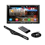 Premium 7In Double-DIN Android Car Stereo Receiver With Bluetooth and GPS Navigation - HD DVR Dash Cam and Rearview Backup Camera - Touchscreen Display With Wi-Fi Web Browsing And App Download