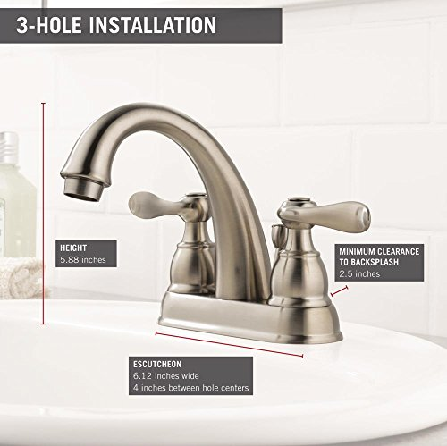 Delta Windemere B2596lf Ss Two Handle Centerset Bathroom Faucet Stainless Buy Online In Uae