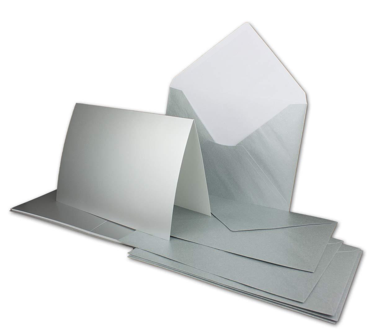 75 Sets - Faltkarten Hellgrau - Din A5  Umschläge Din C5 - Premium Qualität - Sehr formstabil - Qualitätsmarke  NEUSER FarbenFroh B07Q5SC8V7 | Mode-Muster