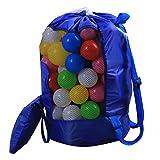 San Bodhi Children Folding Drawstring Kids Beach Toys Storage Pouch Bag Mesh Backpack - Blue