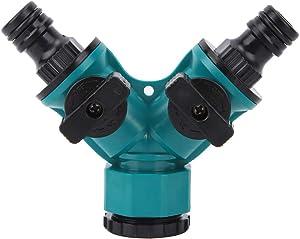Water Splitter 2 Way Y Valve Garden Hose Connector Splitter Adapter for Outdoor and Indoor Use