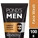 POND'S Men's Energy Bright Face Wash Coffee Beans Bright Skin, 100g