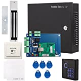 UHPPOTE Full Complete TCP IP Network Access Control Panel Set With AC110V Power Supply 600Lbs 280Kg Force Magnetic Lock