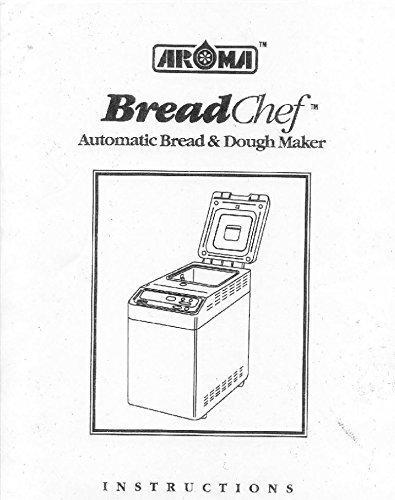 Aroma Pan máquina eléctrica manual de instrucciones y recetas ABM ...