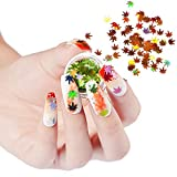 4 Boxes Fall Nail Sticker Decal DIY Colored Maple