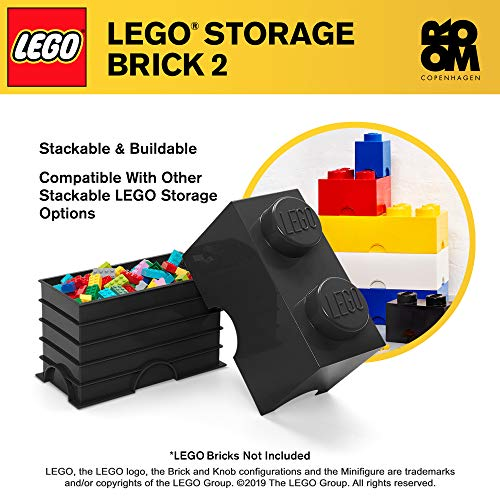 Room Copenhagen 2 LEGO Brick Box, Black (40020633)