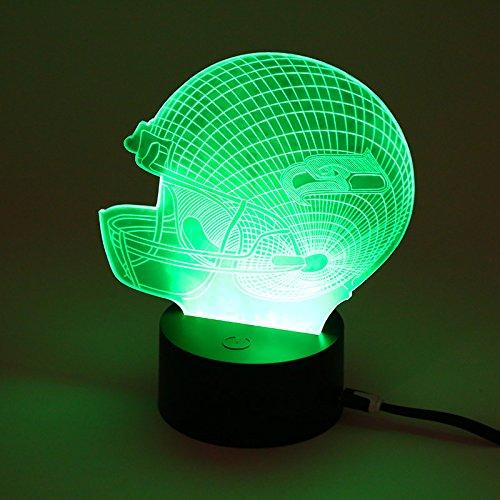 Hanbaili Novelty Baseball Cap 3D Night Light 7 Color Change LED ,Seattle Seahawks Seattle Seahawks Light