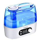 VicTsing Ultrasonic Humidifier, [Whisper Quiet] Cool Mist Home Humidifier [Large LCD Night On/Off Light] Easy to Refill & Clean, Auto Shut-off, Constant Humidity Mode, Mist Level Control for Baby, Pet