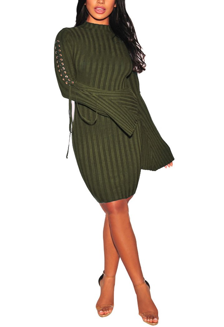 sexycherry Womens Casual To Work Business Party Long Sleeve Warm Stretch Bodycon Dresses