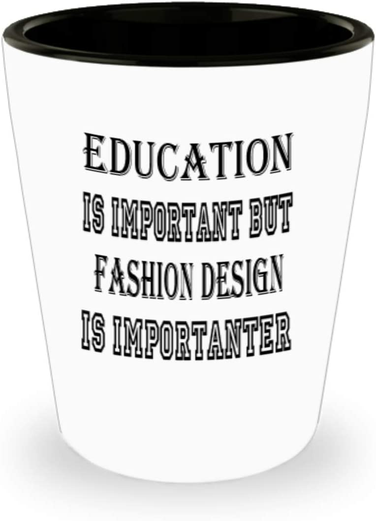 Amazon Com Awesome Fashion Design Gifts White Ceramic Shot Glass Edication Is Important Best Inspirational Gifts And Sarcasm Hobbies Lover Ak0477 Kitchen Dining