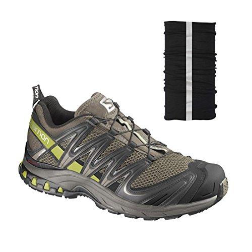 Salomon Men's XA PRO 3D M+ Shoes - Swmp/Drk Ti/Seaweed Grn - With Free Bandana (11.5)