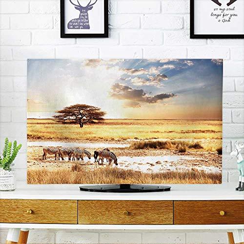 PRUNUS TV dust Cover Zebra TV dust Cover W30 x H50 INCH/TV -
