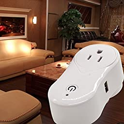 4S-Home Wi-Fi Smart Socket Outlet Works with Alexa , US Plug, Turn ON/OFF Electronics from Anywhere