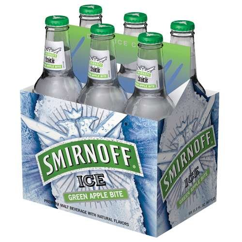 Diageo Smirnoff Green Apple Bite 4.5% Abv, 6 Oz, 6 Ct