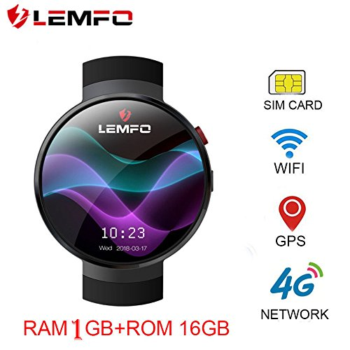 519E%2Bv1xifL - LEMFO LEM7 4G Smart Watch Android 7.0 With Sim 2MP Camera GPS WIFI MTK6737 1GB + 16GB Smartwatch Phone Men Wearable Devices (2018) (black)