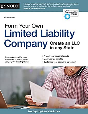 Amazon Form Your Own Limited Liability Company Ebook Anthony