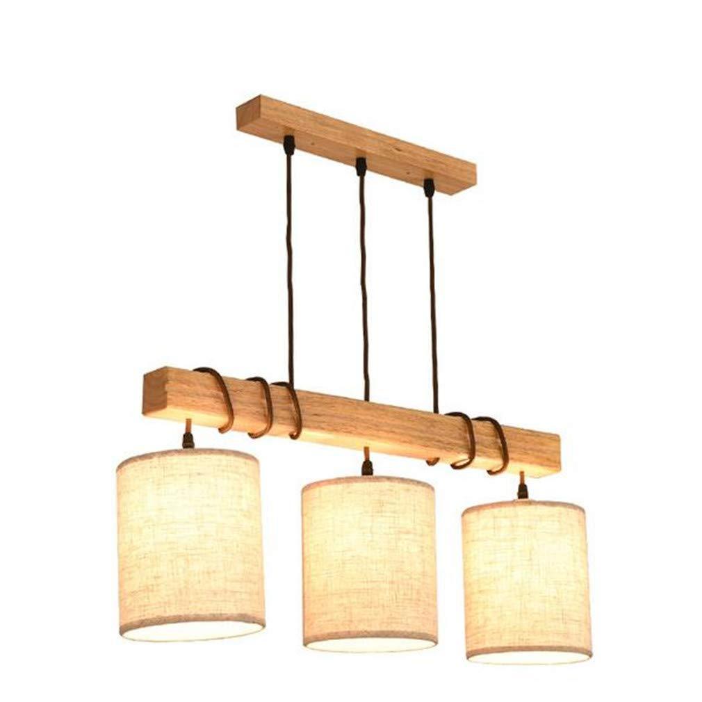 Kronleuchter Kreative Persönlichkeit Nordic Restaurant Lampe Kronleuchter Massivholz Einfache Moderne Wohnzimmer Neue Chinesische Holz Restaurant Kronleuchter Drei Kopf