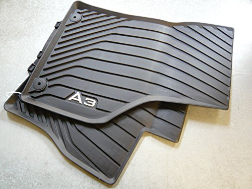 Genuine Audi Accessories 8V5-061-502-041 Black Front All-Weather Floor Mats for A3 (set of 2) A3 Rubber