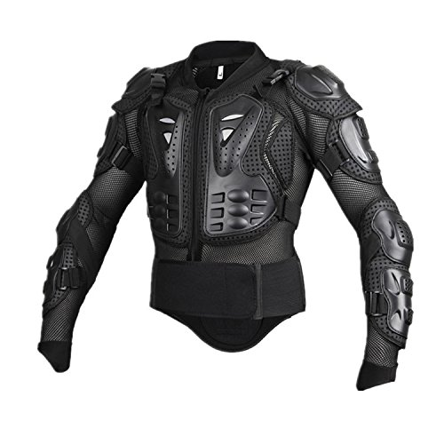 Motorcycle Full Body Armor Protective Jacket Guard ATV Motocross Gear Shirt (XXL, black) by Niree (Image #1)'