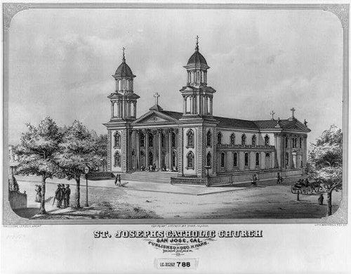 Photo: St. Joseph Catholic Church,San Jose,California,CA,1871,Exterior - San Jose California Shopping