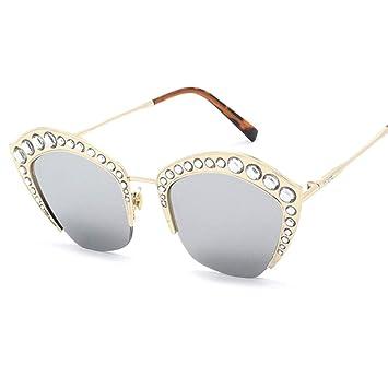 Z&HA Gafas de Sol adornadas de Cristal de Las Mujeres ...