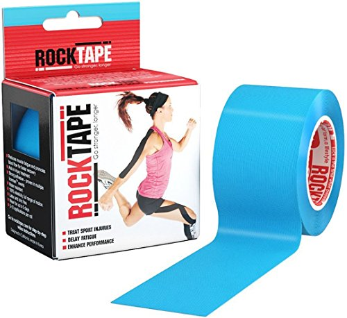 RockTape Kinesiology Tape for Athletes (2-Inch x 16.4-Feet), Electric - Outlets California In New