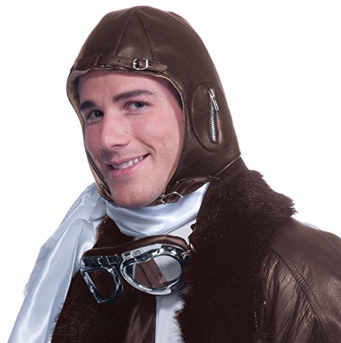 Forum Novelties Deluxe Aviator Airplane Flight Black Costume - Aviator Goggles Kids For