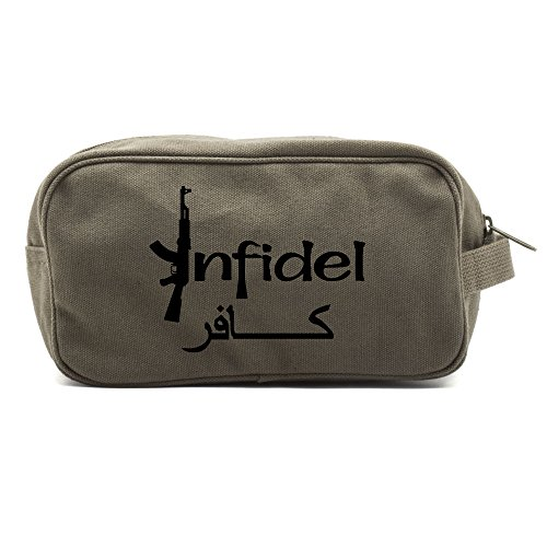 Infidel Arabic AK47 Canvas Shower Kit Travel Toiletry Bag Ca