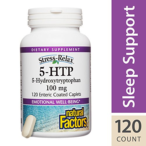 Natural Factors - Stress-Relax 5-HTP 100mg, Supports Emotional Well-Being, 120 Enteric Coated Caplets by Natural Factors