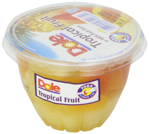 - Dole Tropical Fruit in Juice, 7-Ounce Cups (Pack of 12)