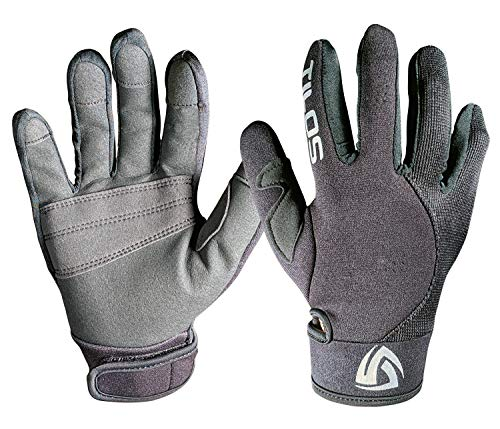 1.5mm Quality Mesh Reef Sporting Glove w/ Amara Palm Gloves for Scuba Dive Diving Divers Snorkel Snorkeling Swim Swimming Raft Rafting Kayak Kayaking Jet Ski Skiing Boat Boating Sail Sailing - Gloves 2mm Warm Water