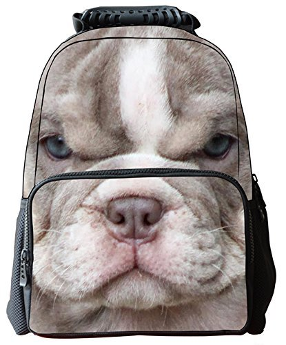 [Rosing House Outdoor 3D Animal laptop Casual Cute Backpack (Dog)] (Brighton Style Tote)