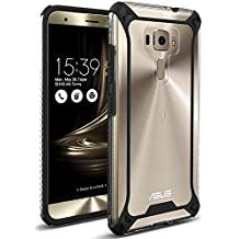 Asus Zenfone 3 ZE520KL (5.2 inch) Case, POETIC Affinity Series Premium Thin/No Bulk/Clear/Dual material Protective Bumper Case for Asus Zenfone 3 ZE520KL (5.2 inch)(2016) Black/Clear