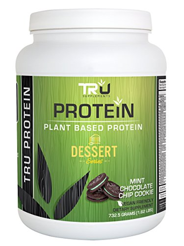 Tru Protein Mint Chocolate Chip Cookie - 25 Serving - Natural Plant Based Protein by Tru Supplements