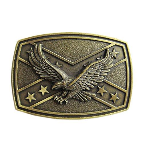 New Vintage Bronze Plated Western Eagle Cross Star Belt Buckle - Belt Buckle Metal Cross
