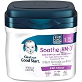 Gerber Good Start Soothe (HMO) Non-GMO Powder Infant Formula Stage 1, 22.2 Ounces (Pack of 6), One Month Supply