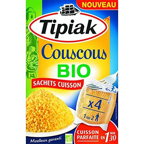 Tipiak - Cuscús Bio Bolsas De Cocción 400G - Lot De 4 ...