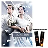 """Hunger Games: Catching Fire (2013) Movie Poster Reprint 13"""" x 19"""" Borderless Victory Tour + Laminated Bookmark"""