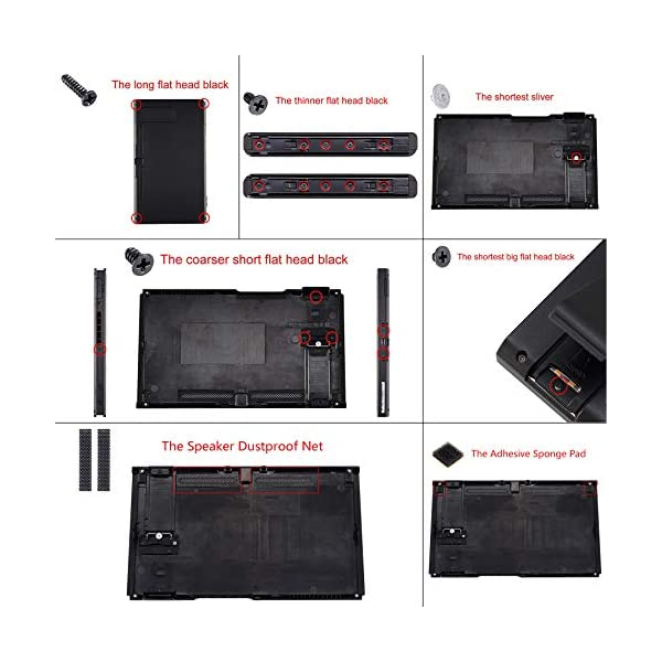 eXtremeRate Soft Touch Grip Back Plate for Nintendo Switch Console, NS Joycon Handheld Controller Housing with Full Set Buttons, DIY Replacement Shell for Nintendo Switch - 100$ Cash Money Patterned 6