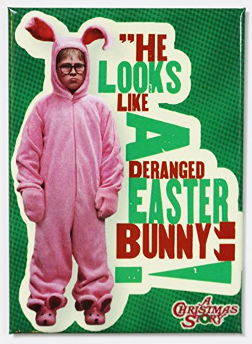 A Christmas Story - Deranged Easter Bunny - Refrigerator Magnet (Easter Story Bunny Christmas)