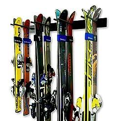 StoreYourBoard Ski Wall Storage Rack, Ho...
