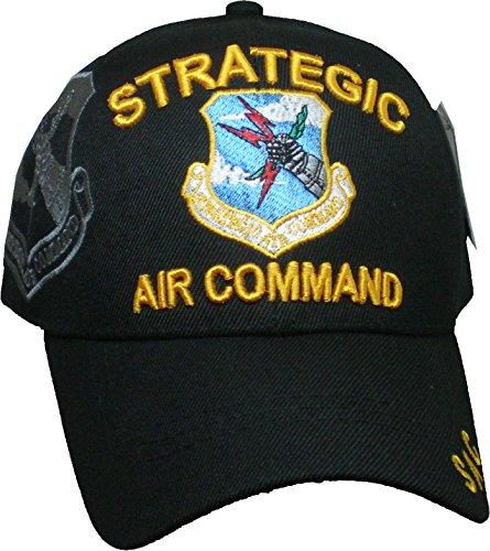 Strategic Air Command Shadow Mens Cap [Black - Adjustable] ()