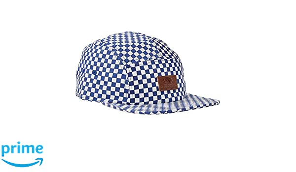 09b2c9300bc1a Vans Off The Wall Men's Davis 5 Panel Camper Hat Cap, Blue/White Checkered,  One Size at Amazon Men's Clothing store: