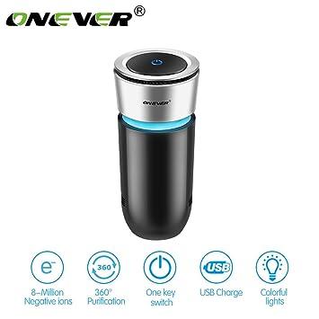 708ca331e18 Car Air Purifiers - Car Air Purifier Anion Air Freshener Colorful LED Light  USB Charging Output