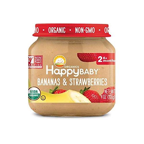 1st Balanced Stage (HAPPY BABY Organic Stage 2 Bananas & Strawberries, 4 OZ)